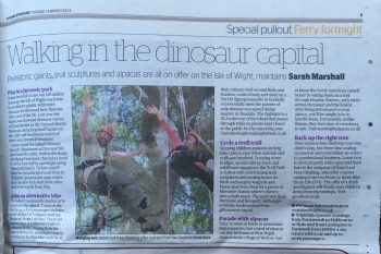 Clipping from London's Evening Standard