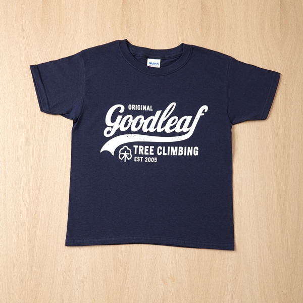 Goodleaf Tree Climbing shop - navy t shirt