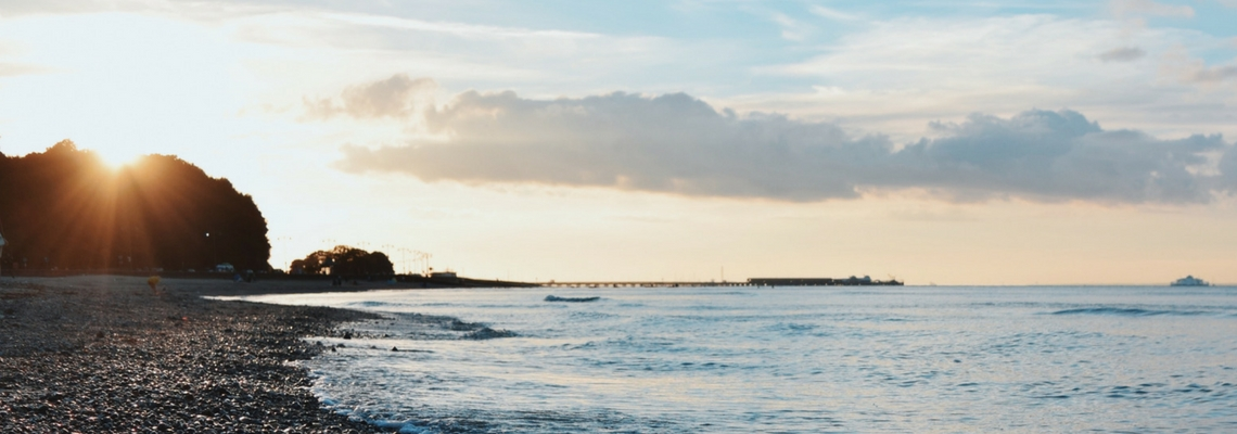 Love Ryde, sunset over Ryde pier