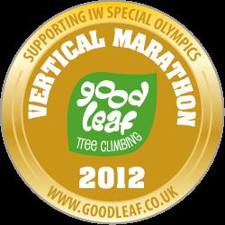 Gold medal for 2012 Goodleaf Vertical Marathon