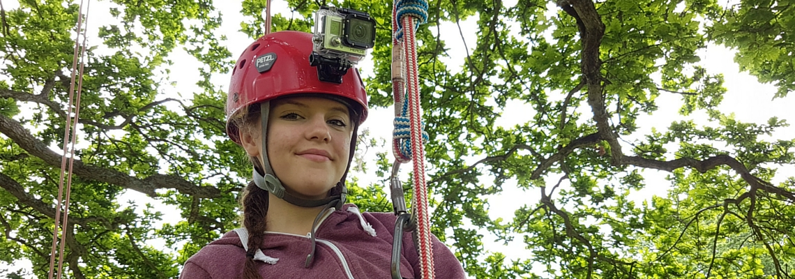 tree climbing film hire a Go Pro