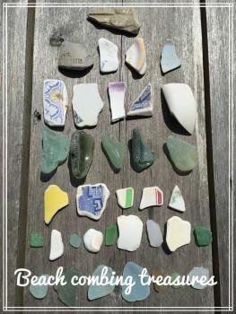 beach treasures found on walk to Quarr Abbey, Ryde