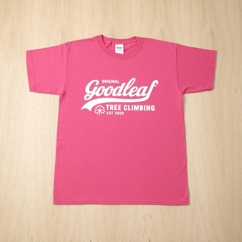 Goodleaf Tree Climbing Shop - bright pink t shirt