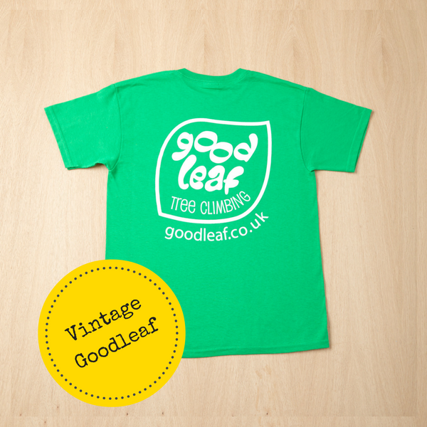 Tree climbing shop - vintage design green t shirt