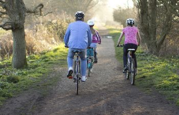 half term fun - cycling along the cycle path