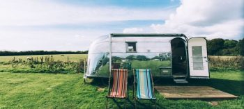 Vintage Airstream Off beat places to stay on the Isle of Wight