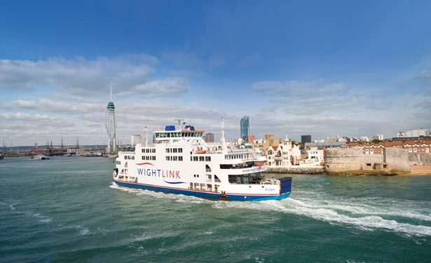Isle of Wight car ferries - Portsmouth to Fishbourne