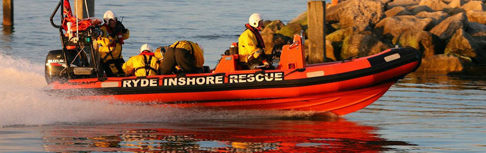 Ryde Inshore Rescue at work