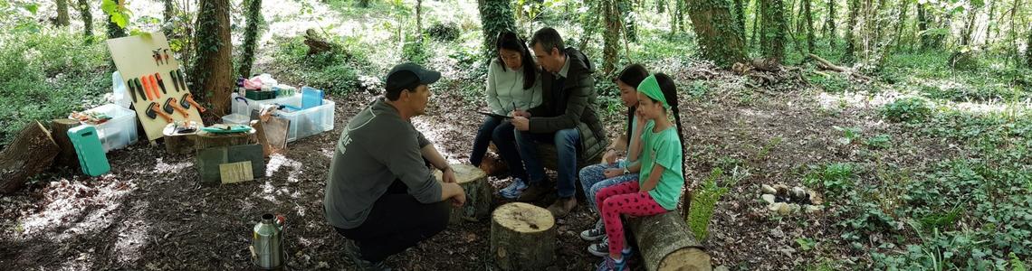 family bushcraft adventures in woods